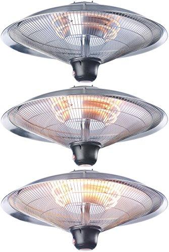 Semptec Deckenheizstrahler: IR-Decken-Heizstrahler mit LED-Licht, Fernbedienung, bis 2.000 W, IP34 (Infrarotheizstrahler) - 5