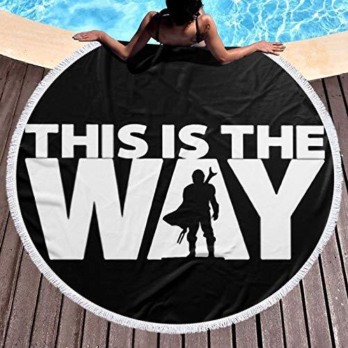 S-tar-W-ars - Toalla de playa redonda de microfibra, toalla de playa, grande, Roundie, ligera, para niños, niñas, mujeres, hombres, niños