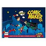 Comic Maker Book | Blank 17x11' Sketchbook | Art Books for Kids | Create Your Own Comic Strip | Comic Book...