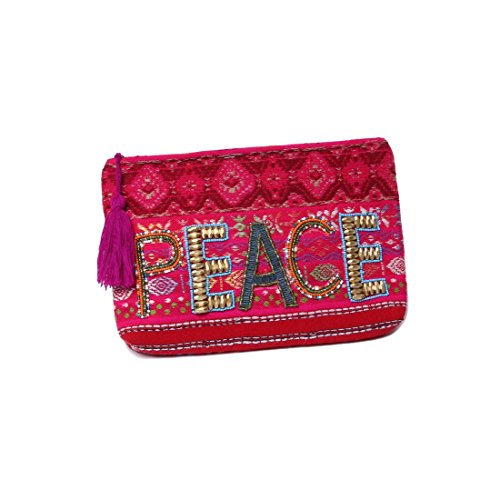 'ale by alessandra Women's Peach of Cake Hand Embroidered Beaded Clutch, Pink, One Size