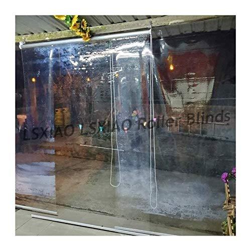 Transparente Cortina Enrollable, Persiana Enrollable Impermeable, A Prueba De Viento con Conector Y Cordón De Cadena con Cuentas para Exterior Porche Delantero, Pérgola