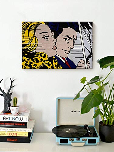 Scott397House Canvas Wall Art Prints In The Car Work by Roy Lichtenstein c Pop Decor for Office Colorful Roy Lichtenstein Ready to Hang Printing Gift for Home Decoration 16x20