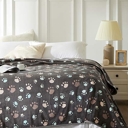 Allisandro® Super Softe Warme und Weiche Decke für Haustier Hundedecke Katzendecke Fleece-Decke/Tier Schlafdeck Überwurf für Hundebett Sofa und Couch- Gr. 160x100cm , Grey