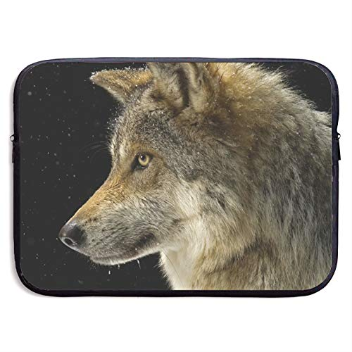 Laptop Sleeve Case Cover Bag, Computer Travel Pocket Pouch Handbag Compatible, Portable Tablet Slipcases Carry Bag for MacBook/HP/Acer/Asus/Dell Gray Wolf 13 15 inch