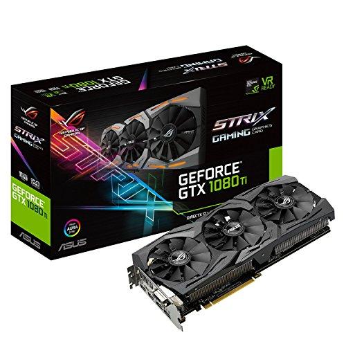 ASUS ROG STRIX GeForce GTX 1080 TI 11GB VR Ready 5K HD Gaming Graphics Card...
