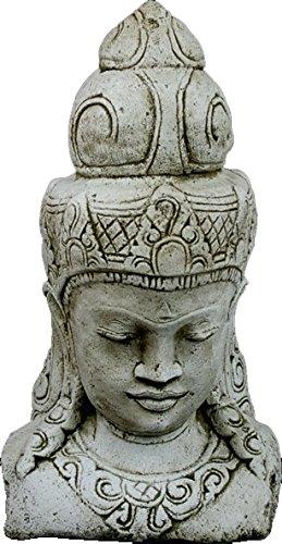 DEGARDEN AnaParra Figura Cabeza Buda Alegría para el jardín Decorativa 68cm. hormigón Color Ceniza