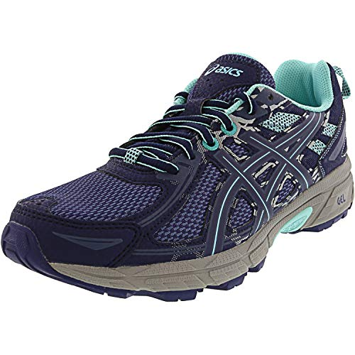 ASICS Women's Gel-Venture 6 Running-Shoes, Ink Blue/Aruba Blue/Mid Grey 8 M US