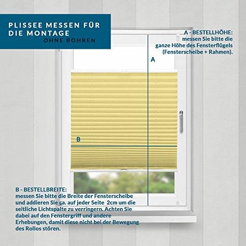 Plissee Gelb HOME-VISION - 9