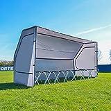 Net World Sports Portable Sports Team Shelter for Soccer/Baseball/Cricket (Optional 8 Seat...