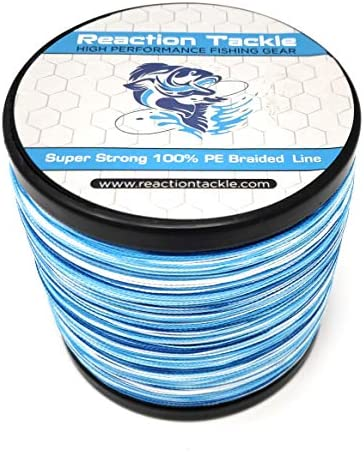 Reaction Tackle Braided Fishing Line Blue Camo 50LB 500yd product image
