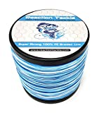 Best Braided Fishing Lines - Reaction Tackle Braided Fishing Line Blue Camo 30LB Review