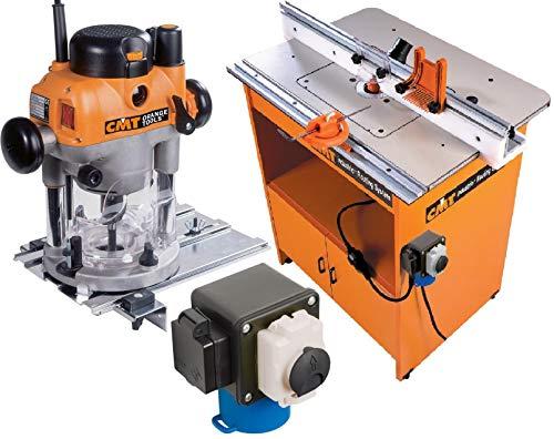 CMT - Mesa profesional industrial 999.500.01 + electrofresadora 2400 W CMT7E + control de seguridad 999.100.11