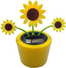 Ouniman Dancing Solar Toys, 26 Styles Solar Dancing Flower Cactus Solar Powered Toys Car Swinging Dancing Toy Car Windowsill Decoration Holiday Car Dashboard Office Home Desk Decor (U)