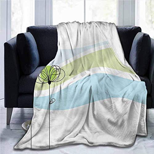 Leisure-Time Flanell Ultra-Soft Decke Dekorative Weiche Warme Gemütliche Plüsch Gekritzel, Sommerblumen Niedlich, Für Kinder Erwachsene Jungen Mädchen Herren Damen