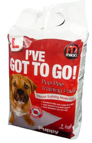 Mikki Almohadillas de Entrenamiento para Perros y Cachorros para Entrenamiento de Inodoro Wee Wee House, superabsorbentes, Paquete de 7