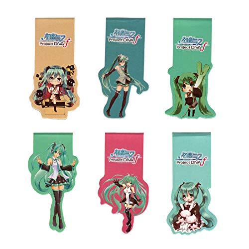 CoolChange Vocaloid magnetische Manga Lesezeichen mit Miku Hatsune Motiven, 6 Stk.