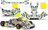 AMR Racing Go-Kart Graphics kit Sticker Decal Compatible with KG Freeline Birel Cadet - Expo Green