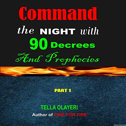 Command the Night with 90 Decrees and Prophecies audiobook cover art