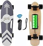 Caroma 70 cm Elektro Skateboard mit Drahtloser Bluetooth Fernbedienung für Erwachsene und...