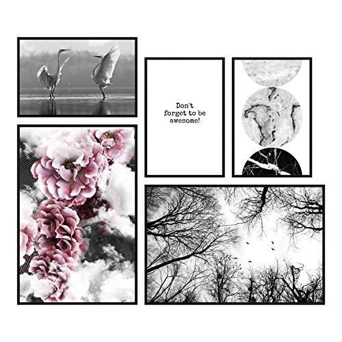 decomonkey - Bilder, Poster, Kunstdrucke & Skulpturen in Poster Set #37, Größe Poster ohne Rahmen XL