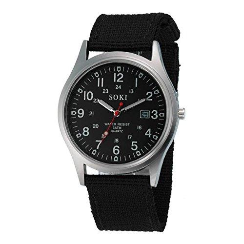 KiyomiQvQ Herren Armbanduhr Modischer Leinwand Armband Uhren Klassische Legierung Gehäuse Luxusuhren Einfache Elegant Zifferblatt Markenuhren Männer Analog Quartz Watch Schmuck Quarzuhr