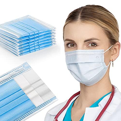 Opharm Mundschutz Maske mit Zertifikat 50 Einweg Masken Mundschutz Atmungsaktive Maske Mund Nasen schutzmaske Einwegmasken Mundschutz Mundschutz einweg mit 3-lagigem Mund und Nasenschutz face mask