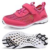 CIOR Boys & Girls Water Shoes Kids Swim Shoes Aqua Shoes Sport Sneakers Light Weight Shoes(Toddler/Little Kid/Big Kid) U118SSXT002-Rose-34