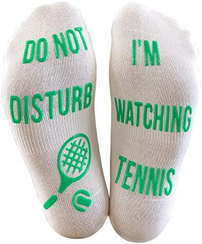 Do Not Disturb I m Watching Tennis Funny Ankle Socks Great Gift For Tennis Fans product image