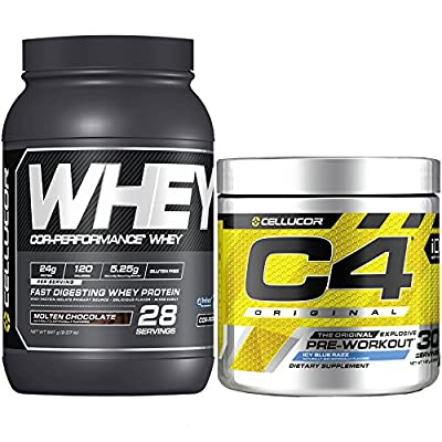 Cellucor C4 Original Pre Workout Powder,Protein Bundle