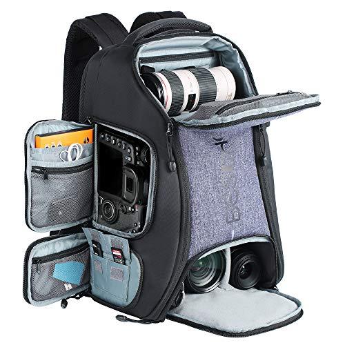 """Beschoi - Mochila Fotografía para Cámara Réflex Nikon Canon Sony Tripode Tablet 15,6 """"con Funda de Lluvia"""