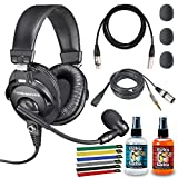 Audio-Technica BPHS1 Broadcast Stereo Headset with 10ft XLR Cable, Cleaning Kit,...