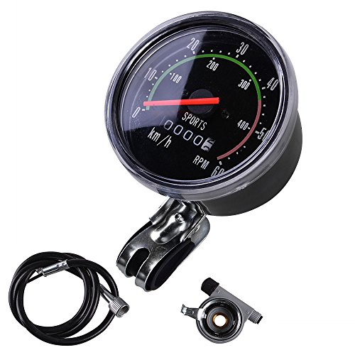 MakeTheOne Old School Style Bike Speedometer Analog Odometer Classic Style