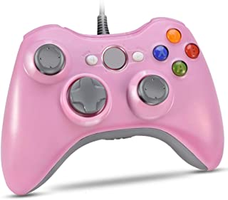 VOYEE Xbox 360 Controller Upgraded Wired Controller Compatible with Microsoft Xbox 360 & Slim/PC Windows 10/8/7 (Pink)