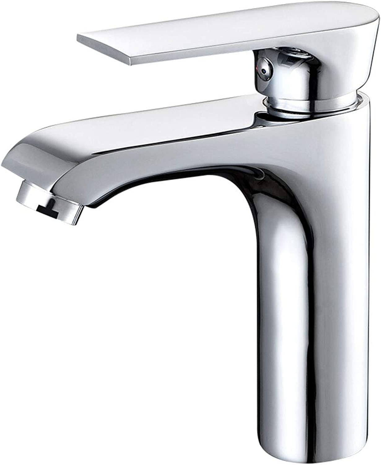 Shuilongtou Hot and cold water faucet 180 degree redation copper main body single hole hot and cold mixed water basin high foot faucet ceramic valve core