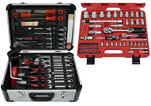 Famex 729-19 Werkzeugkoffer Komplettset Top Qualität mit 66-teiligem Steckschlüsselsatz