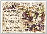 Die Staffelei Geschenk Karte Berufsbild Biker Motorradfahrer Zeichnung mit Gedicht, 20 x 15 cm -