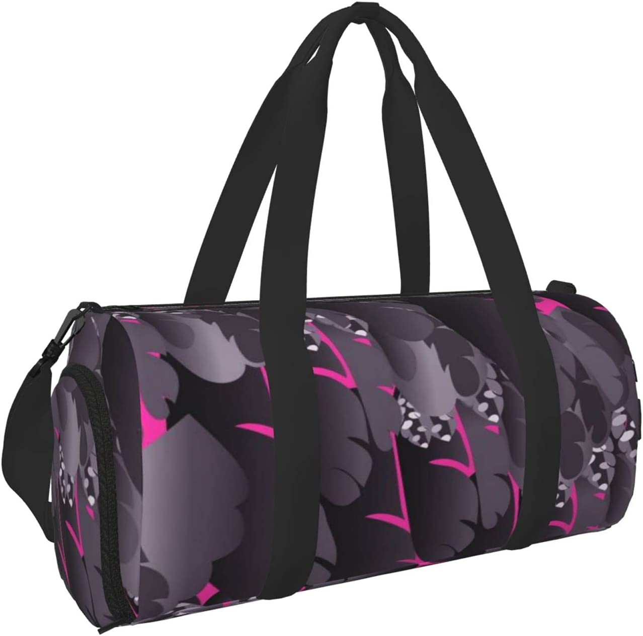 Purple Owl Feather Sports Gym Bag Surprise price Duffel Travel Popular Wet with Dry