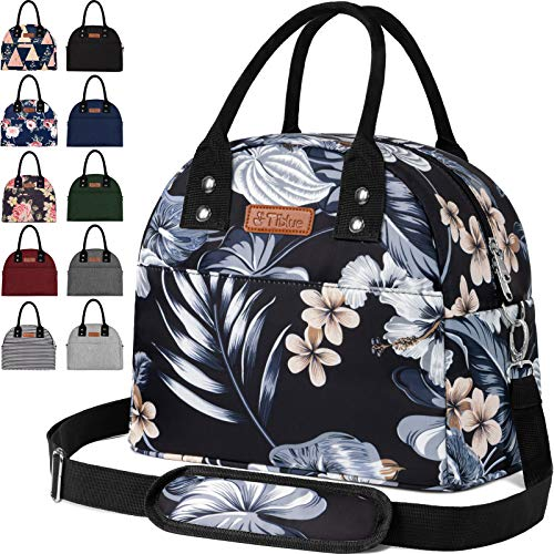Reusable Insulated Cooler Lunch Bag  Portable Lunch Box for Office Work School Picnic Beach Workout Travel  Freezable Tote Lunch Bag Organizer with Adjustable Shoulder Strap for Women Men Adult Kids