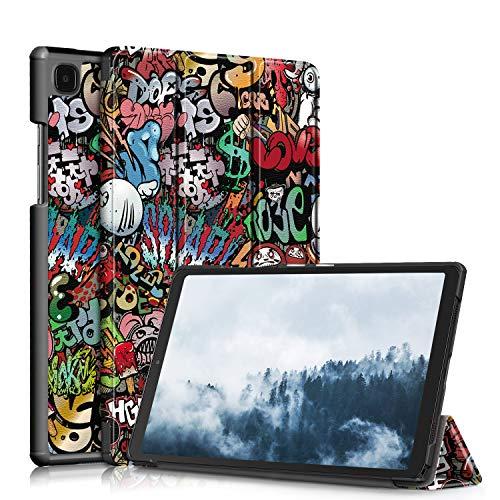 TOPCASE Custodia per Samsung Galaxy Tab A7 10.4 pollici 2020 SM-T500/SM-T505/SM-T507Ultra-sottile Cover con Funzione Supporto,Graffiti