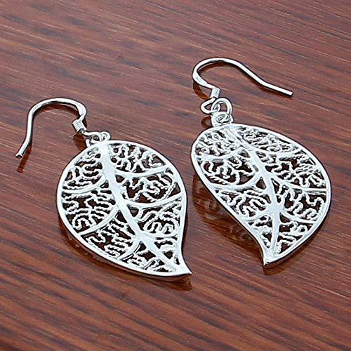 925 Silver Hollow Leaf Drop Earrings For Women Fashion Silver Earring Best Valentine's Day And Birthday Gifts