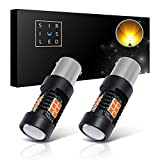 SIRIUSLED Extremely Bright 35W 2835 Chipset 21 SMD LED Bulbs with Projector for Car Turn Signals Daytime...