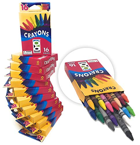 Set of 12 Packs - Geddes Wholesale Discount Crayons Washable 16 ct - Bulk
