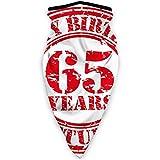 MLNHY cubierta cómoda a prueba de viento, diseño de sello de goma, diseño de símbolo de felicitaciones de 65 años