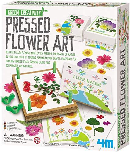 4M Green Creativity Pressed Flower Art Kit for Kids