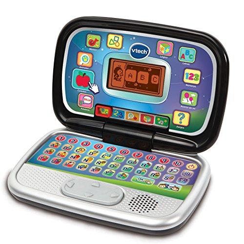 VTech Diverblack PC - Ordenador Infantil Educativo que Enseña Diferentes Materias a...