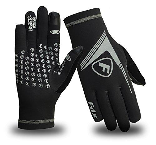 Gants pour hommes FDX, idéaux pour la course, le yoga et le football, légers, conçus pour le froid avec dispositif haute visibilité petit noir