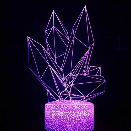 3D LED Acryl Nachtlicht Schlafzimmer Illusion Tischlampe Nachttisch Dekoration Unterhaltung Spielmuster Kristallwürfel
