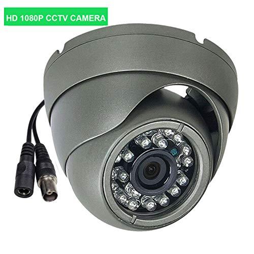 2MP CCTV Telecamera AHD per DVR, HD CCTV Camera Dome, Aottom 1080P CCTV Telecamera 4 in 1 3000TVL per AHD DVR, AHD/TVI/CVI/CVBS, obiettivo 3.6 mm, 24 LED per Visione Notturna 65ft, Supporto UTC, BNC