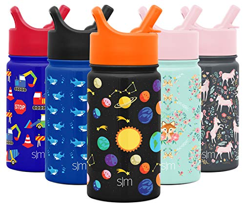 Botellas De Agua Acero Inoxidable Con Pajita Marca Simple Modern