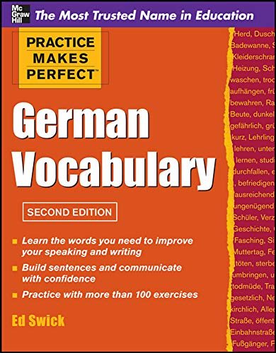 Practice Makes Perfect German Vocabulary (Practice Makes Perfect Series)